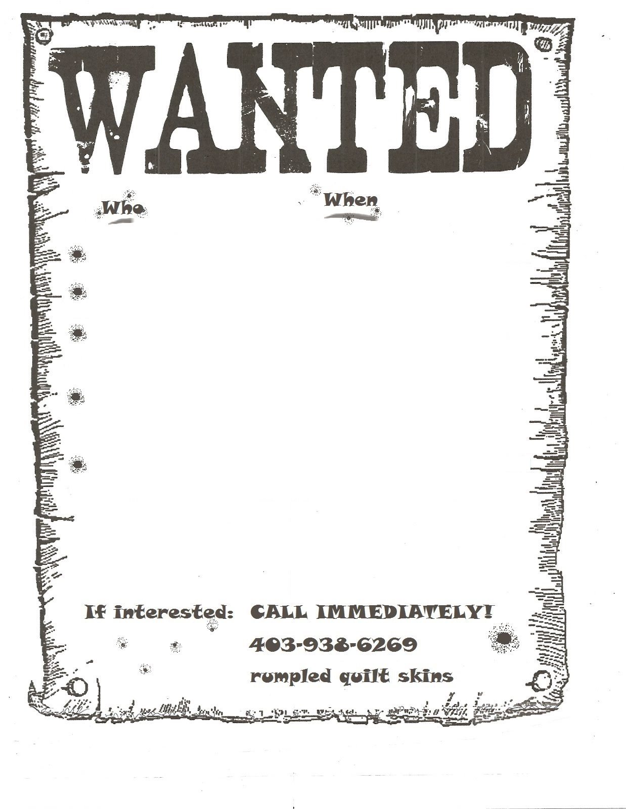 Class Wanted Poster