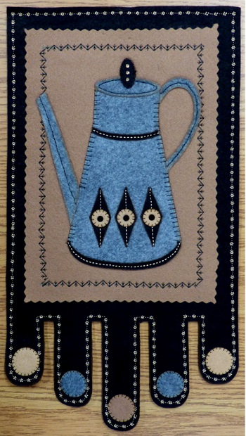 Wool Felt Coffee Pot Appliqué